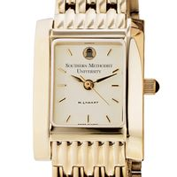 SMU Women's Gold Quad Watch with Bracelet Image-1 Thumbnail