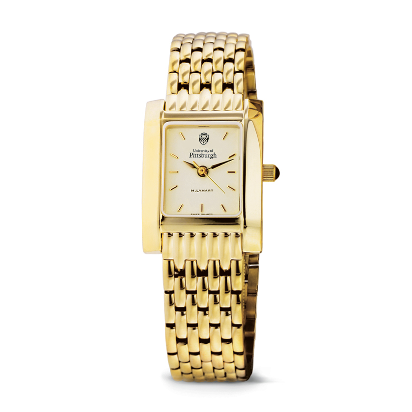 Pittsburgh Women's Gold Quad Watch with Bracelet