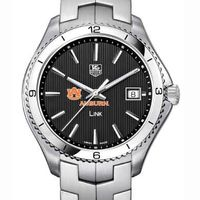 Auburn TAG Heuer Men's Link Watch with Black Dial