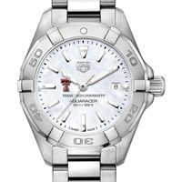 Texas Tech Women's TAG Heuer Steel Aquaracer with MOP Dial