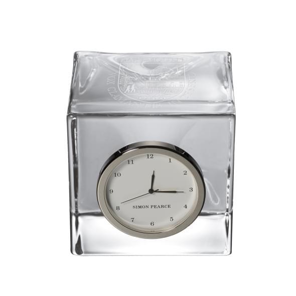 Dartmouth Glass Desk Clock by Simon Pearce