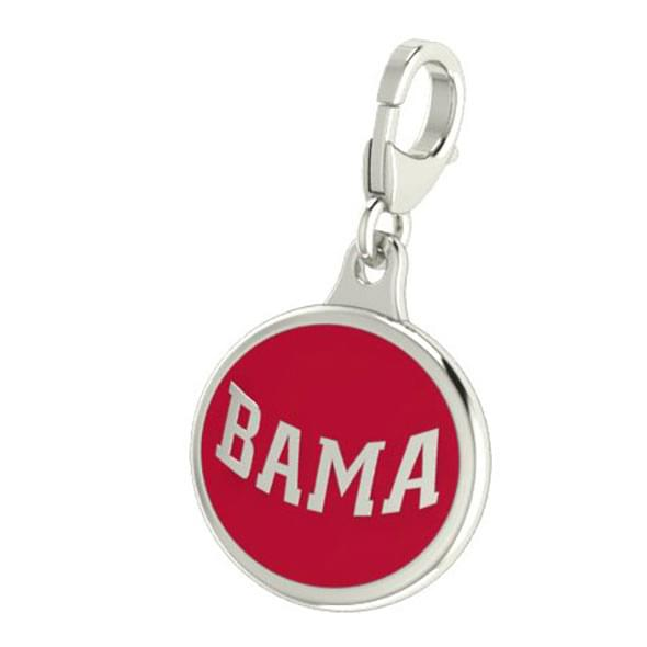 Alabama Enameled Charm with Lobster Claw Clasp