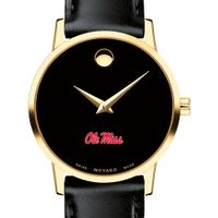 Ole Miss Women's Movado Gold Museum Classic Leather