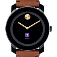 NYU Men's Movado BOLD with Brown Leather Strap