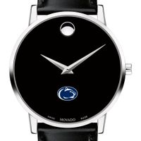 Penn State Men's Movado Museum with Leather Strap