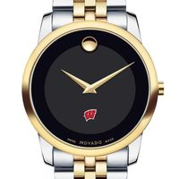 Wisconsin Men's Movado Two-Tone Museum Classic Bracelet