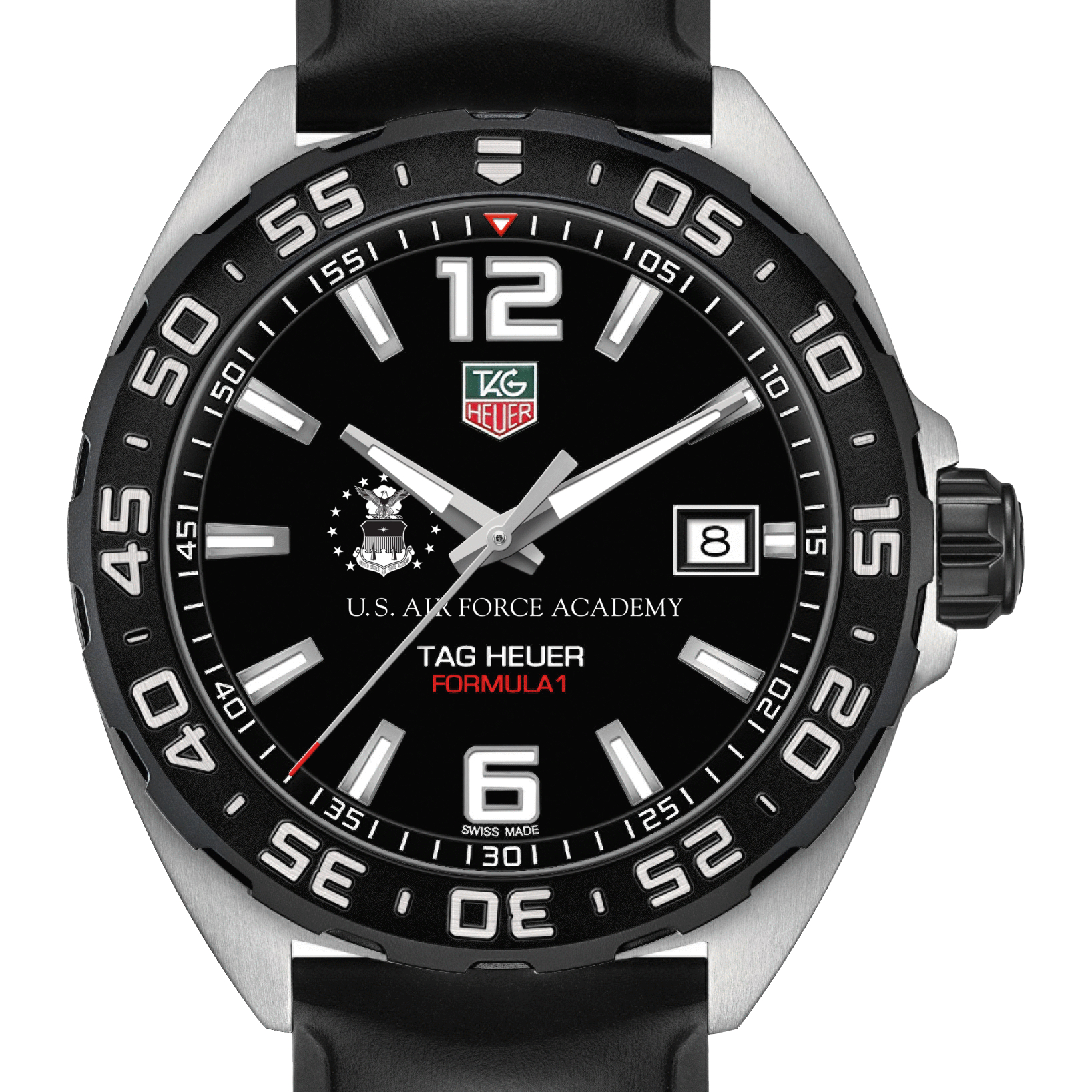 Air Force Academy Men's TAG Heuer Formula 1 with Black Dial