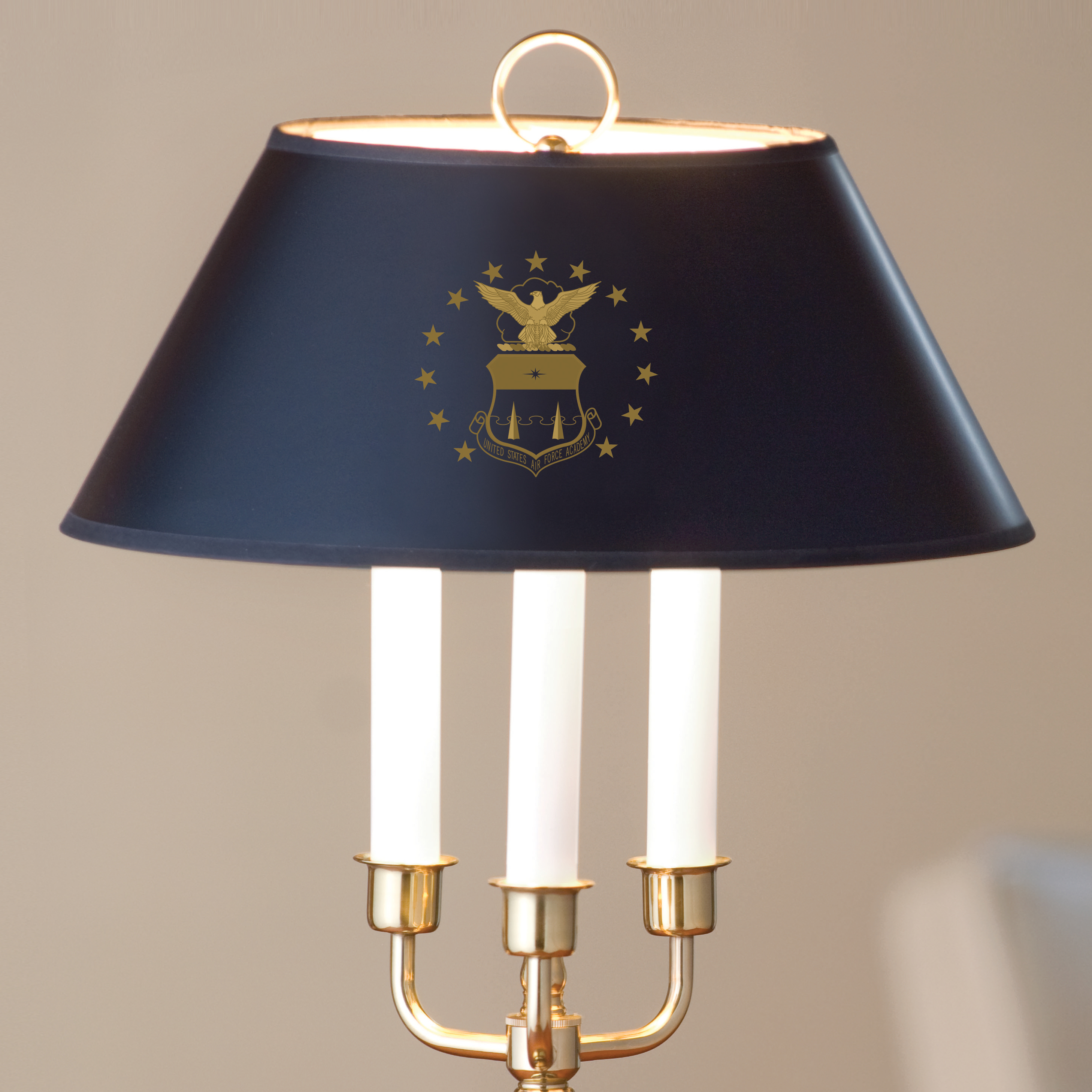 Traditional USAFA Lamp in Brass and Marble