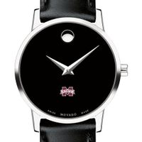 Mississippi State Women's Movado Museum with Leather Strap