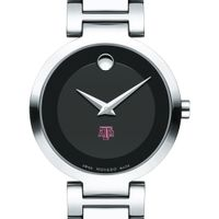 Texas A&M Women's Movado Museum with Steel Bracelet
