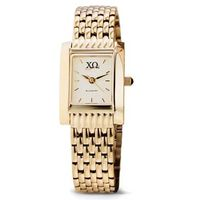 Chi Omega Women's Gold Quad Watch with Bracelet