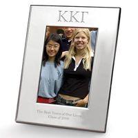 Kappa Kappa Gamma Polished Pewter 4x6 Picture Frame Image-1 Thumbnail