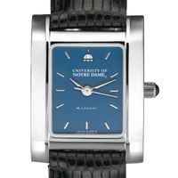 Notre Dame Women's Blue Quad Watch with Leather Strap