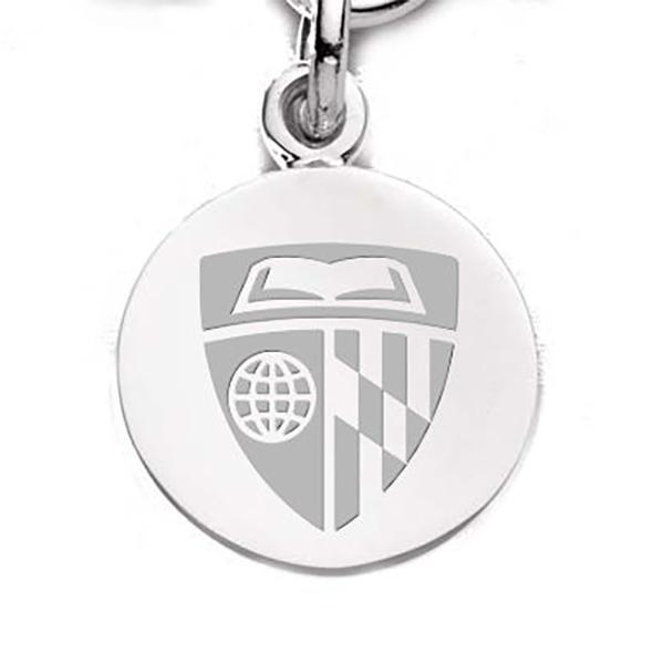 Johns Hopkins Sterling Silver Charm