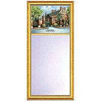 Harvard Eglomise Mirror with Gold Frame