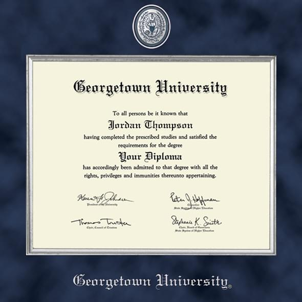Georgetown University Diploma Frame Excelsior