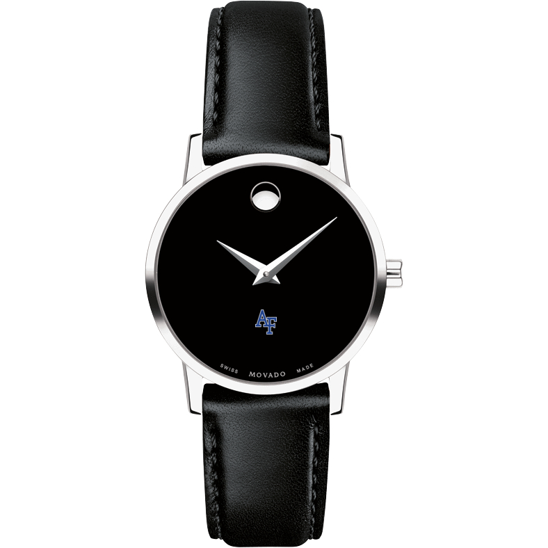USAFA Women's Movado Museum with Leather Strap