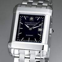 Ole Miss Men's Black Quad Watch with Bracelet Image-1 Thumbnail