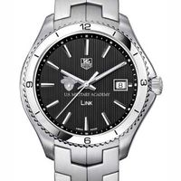 West Point TAG Heuer Men's Link Watch with Black Dial Image-1 Thumbnail