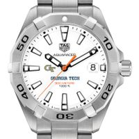 Georgia Tech Men's TAG Heuer Steel Aquaracer