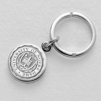 Notre Dame Sterling Silver Insignia Key Ring