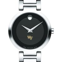 Wake Forest Women's Movado Museum with Steel Bracelet
