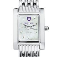 Holy Cross Women's Mother of Pearl Quad Watch with Bracelet