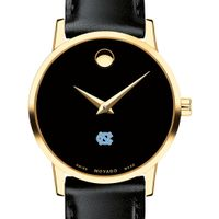UNC Women's Movado Gold Museum Classic Leather