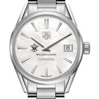 William & Mary Women's TAG Heuer Steel Carrera with MOP Dial