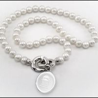 SMU Pearl Necklace with Sterling Silver Charm Image-1 Thumbnail