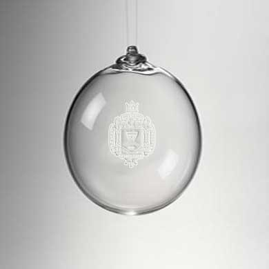 USNA Glass Ornament by Simon Pearce