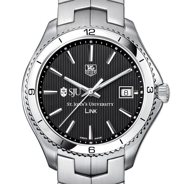 St. John's Men's Link Watch with Black Dial