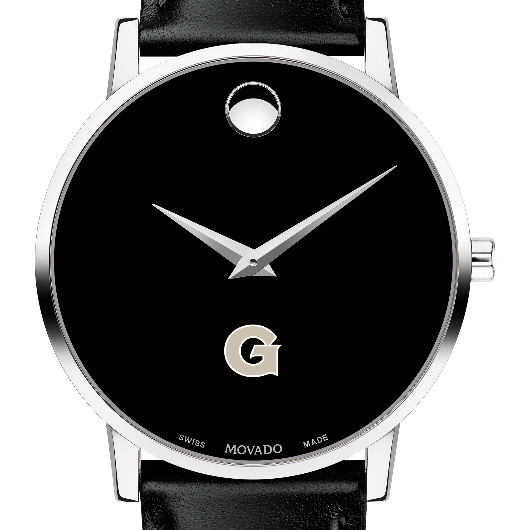 Georgetown Men's Movado Museum with Leather Strap