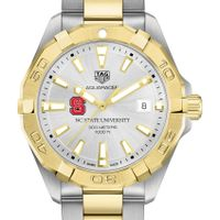 NC State Men's TAG Heuer Two-Tone Aquaracer