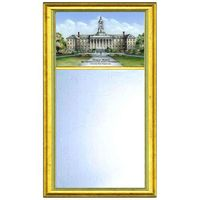 Penn State Eglomise Mirror with Gold Frame