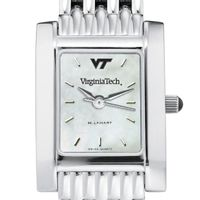 Virgina Tech Women's Mother of Pearl Quad Watch with Bracelet