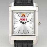 VMI Men's Collegiate Watch with Leather Strap