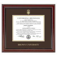 Brown Fidelitas Diploma Frame