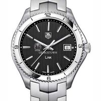 Georgetown TAG Heuer Men's Link Watch with Black Dial