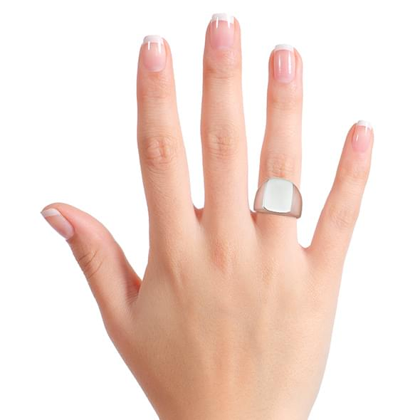 Dartmouth Sterling Silver Rectangular Cushion Ring