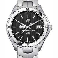 Mississippi State TAG Heuer Men's Link Watch with Black Dial
