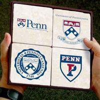 Penn Logos Marble Coasters