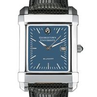 Georgetown Men's Blue Quad Watch with Leather Strap