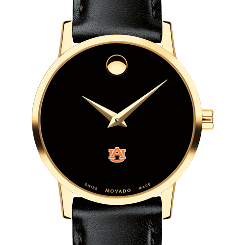 Auburn Women's Movado Gold Museum Classic Leather