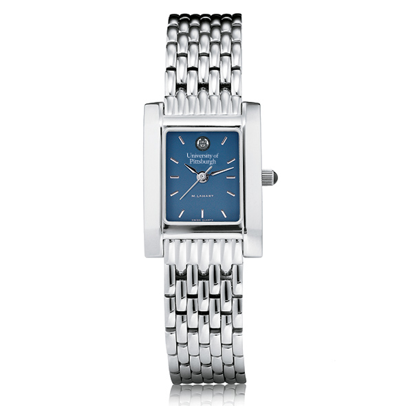 Pittsburgh Women's Blue Quad Watch with Bracelet