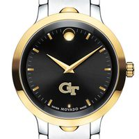 Georgia Tech Men's Movado Luno Sport Two-Tone