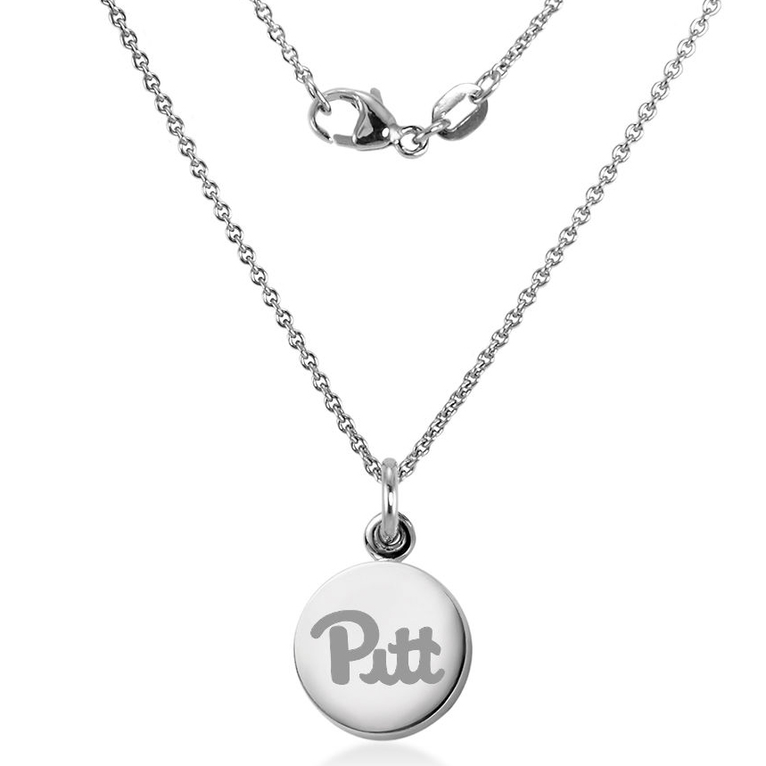 Pittsburgh Sterling Silver Necklace with Silver Charm