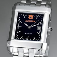 Auburn Men's Black Steel Quad Watch with Bracelet