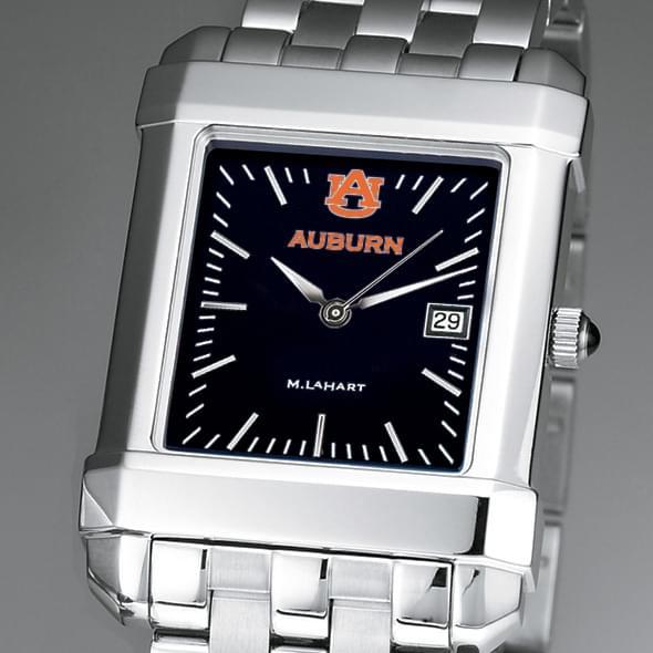 Auburn Men's Black Steel Quad Watch with Bracelet