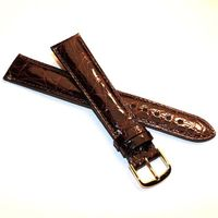 Women's Brown Crocodile Strap with Gold Buckle for Quad Watches